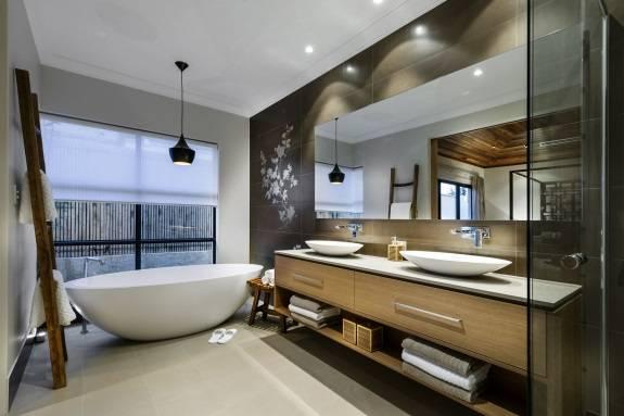 Гармоничный азиатский дизайн ванной комнаты
