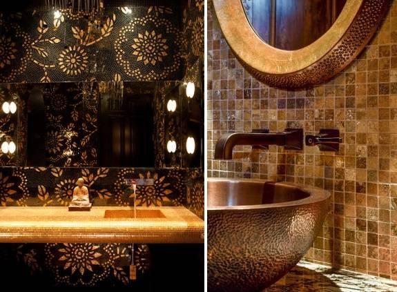 Гламурные ванные комнаты в азиатском стиле