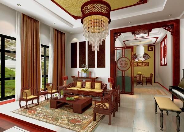 Красивый интерьер в азиатском стиле