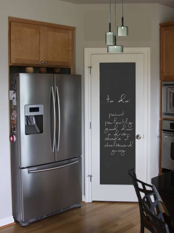 Kara tahta ile mutfak