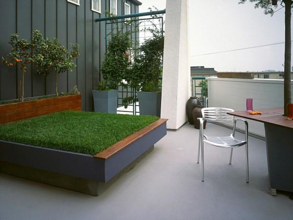 Необычный дизайн открытой террасы