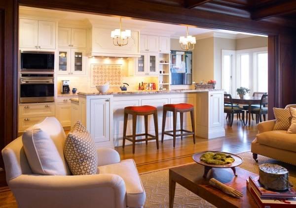 Дизайн дома без дверей в традиционном стиле