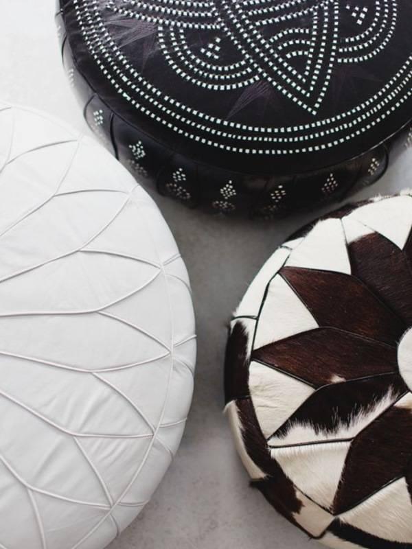 Очень красивые пуфы в марокканском стиле