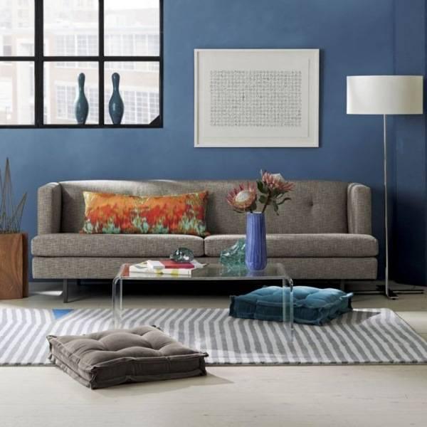 Напольные подушки для стильной гостиной