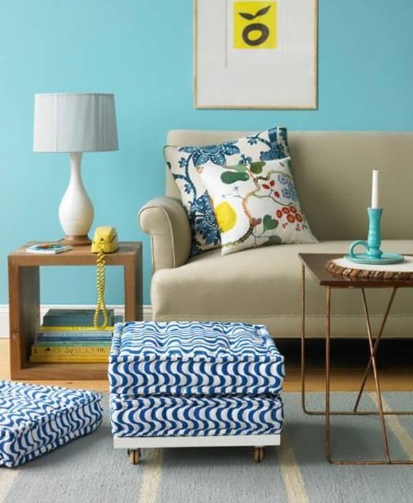 Подушки для сидения в гостиной