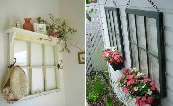 Декор для дома из старых окон
