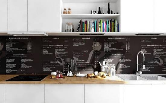 Полезные рецепты на стенах кухни