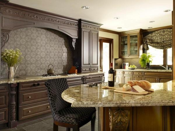 Фартук для кухни из бетона