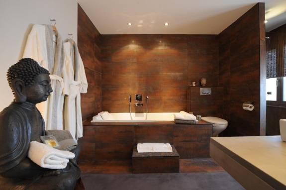 Дизайн ванной комнаты в азиатском стиле + спа