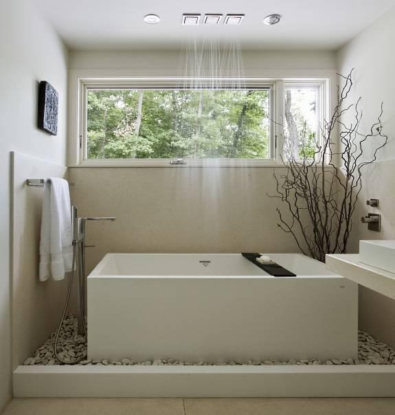 Светлая ванная комната в китайском стиле