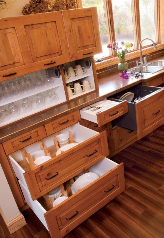 Организация посуды на кухне
