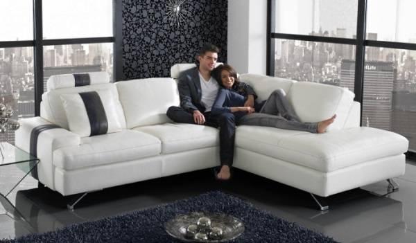 Köşe kanepeli oturma odası tasarımı