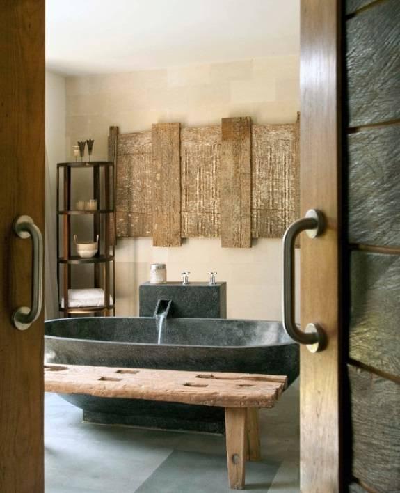 Ванная комната в стиле китайского кантри