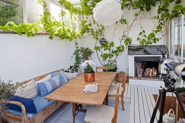 Дизайн внутреннего дворика в доме