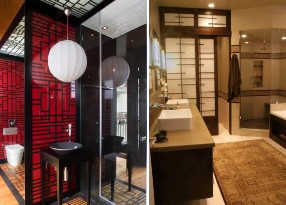 Ванная комната с сёдзи и другими китайскими элементами