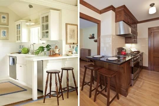 Барные стойки в маленьких кухнях