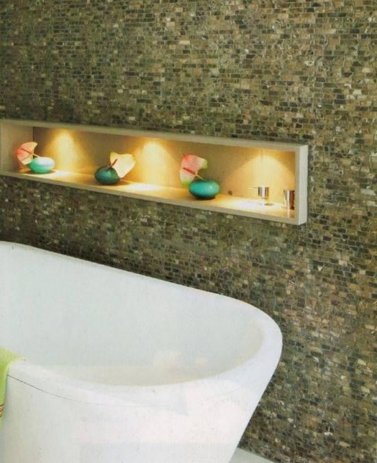 Ниша для украшения ванной комнаты