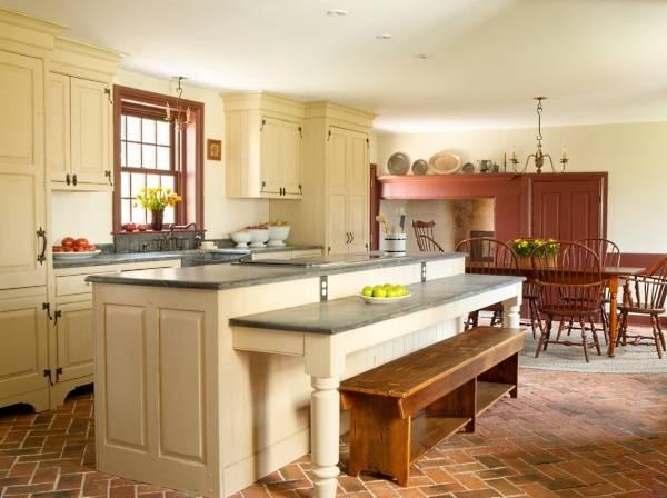 Интересный дизайн кухни в деревенском стиле