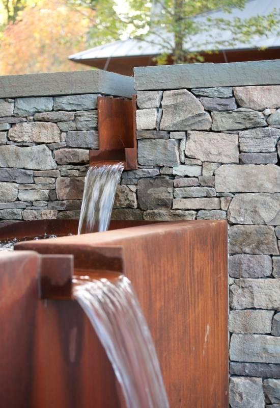 Дизайн сада с бегущими ручьями