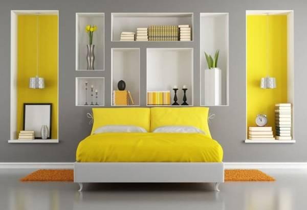 Дизайн спальни с нишами