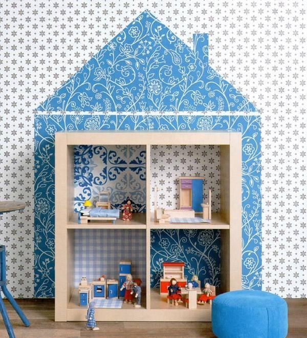 Кукольный домик из квадратной полки