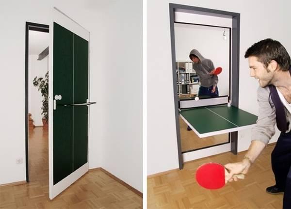 Дверь для игры в пинг-понг