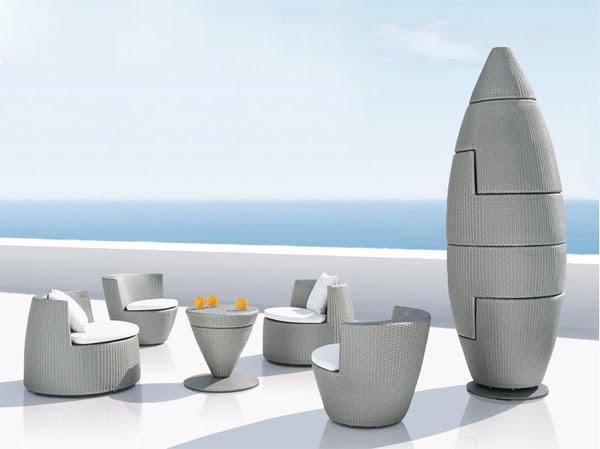 Раскладной набор мебели Obelisk от Dedon
