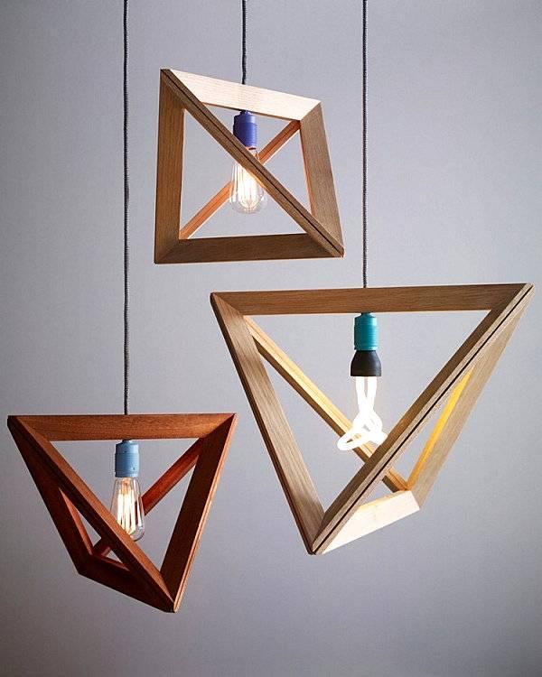 Светильники с геометрическими формами