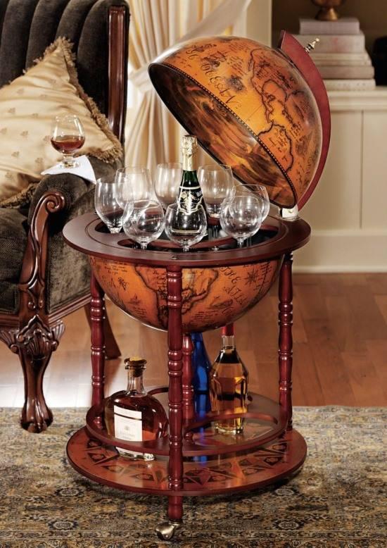 Мини-бар для дома в глобусе