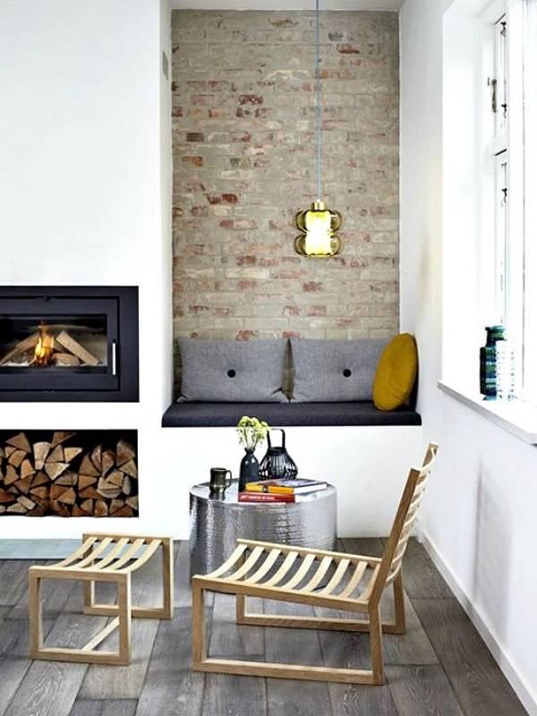 Ниши для камина и сидения
