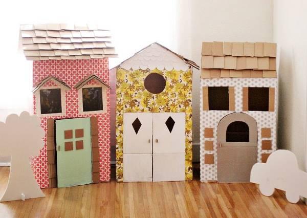 Игрушечные домики из картона