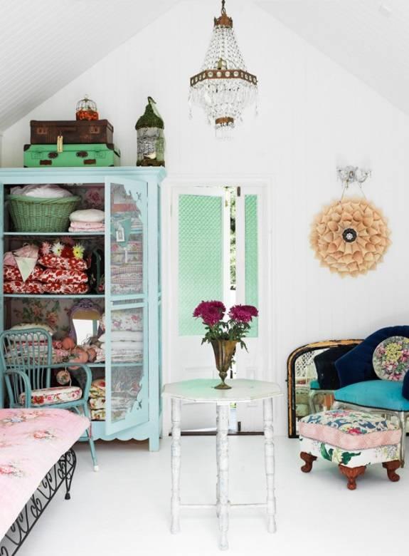 Комната в стиле винтаж