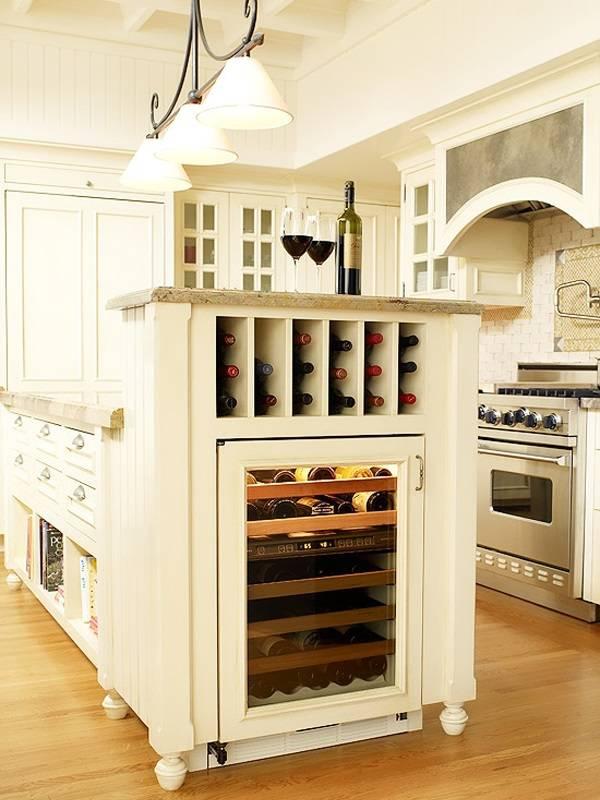 Хранилище для вина на кухне