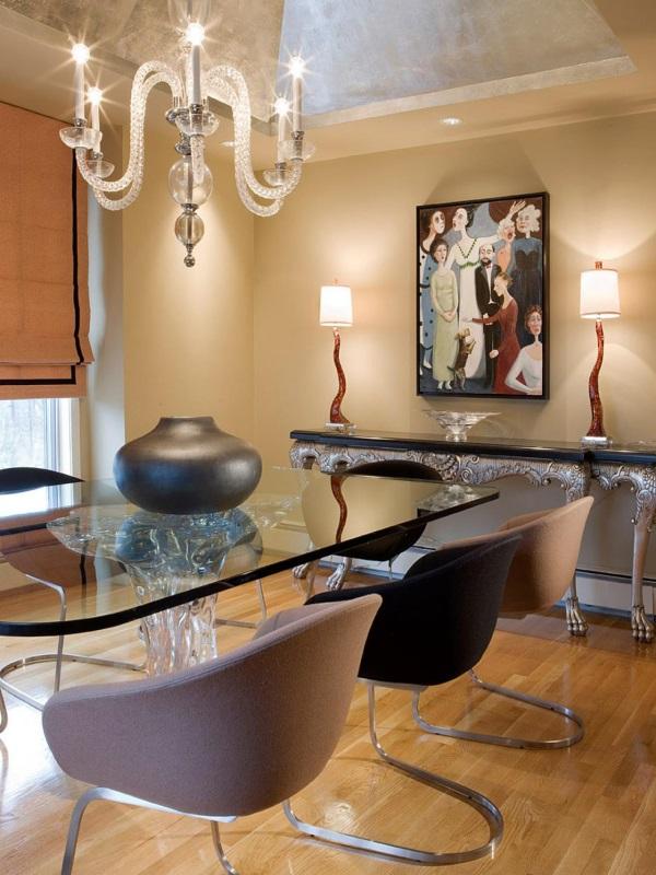 Красивые светильники змеевидной формы в гостиной