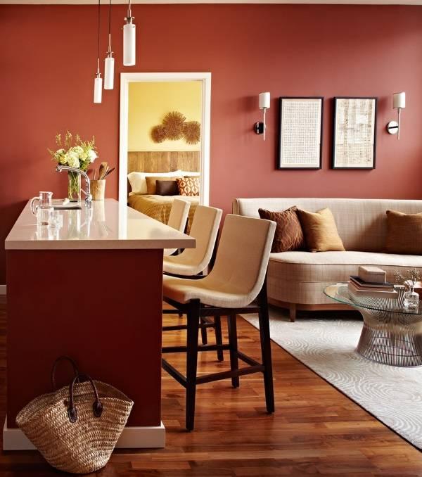 Красивый цвет стен для гостиной