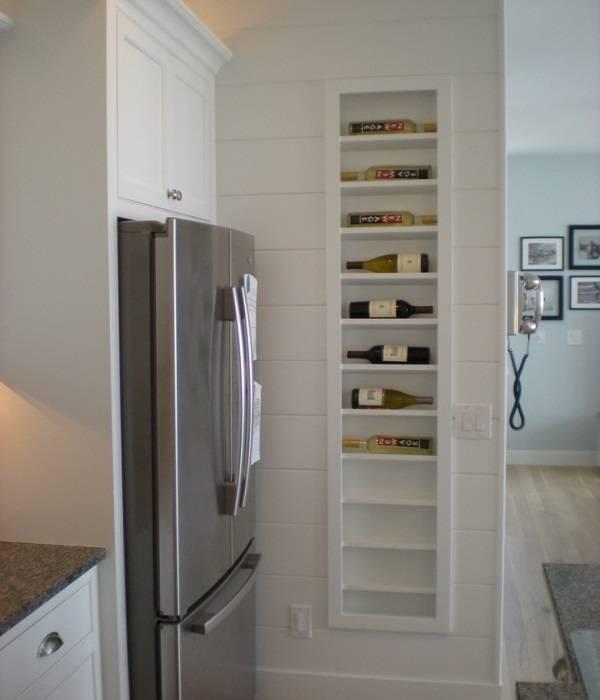 Mutfakta şarap saklamak için niş