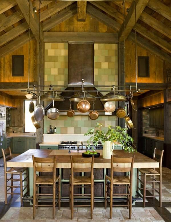 Красивая кухня в стиле кантри