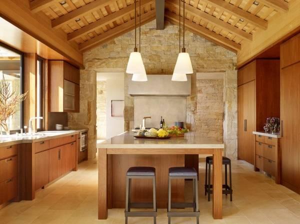 Кухня в современном деревенском стиле