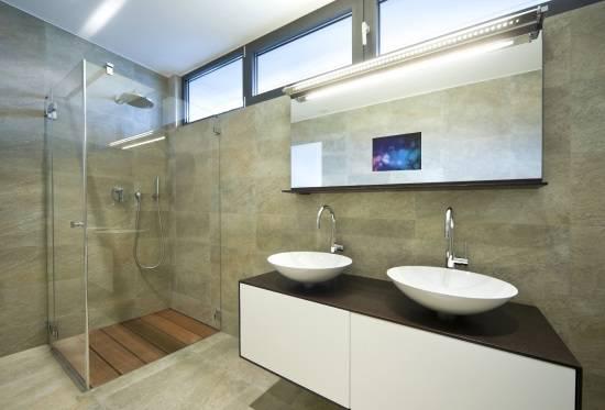 Мебель для ванной в стиле Hi-Tech