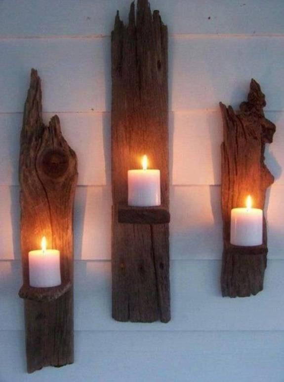 Винтажный настенный декор из дерева