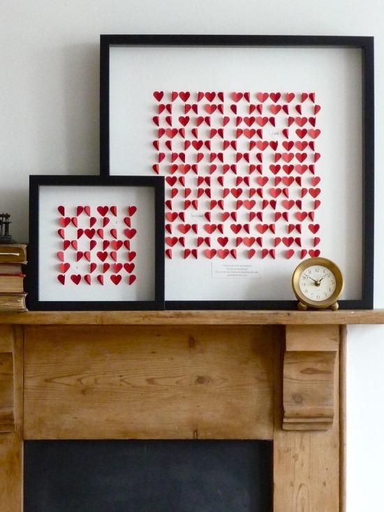 Бумажный декор ко Дню святого Валентина своими руками