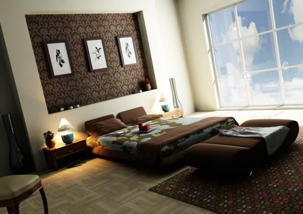 Güzel duvar kağıdı ile niş dekorasyon