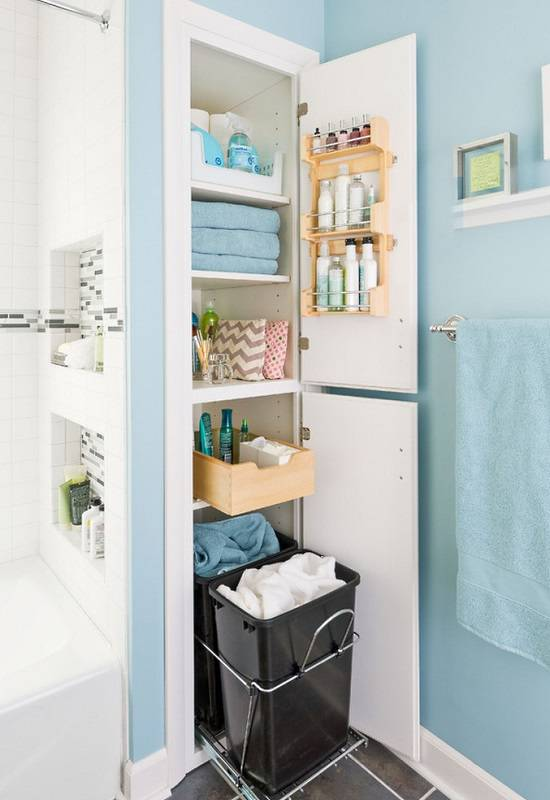 Организованное хранение вещей в ванной