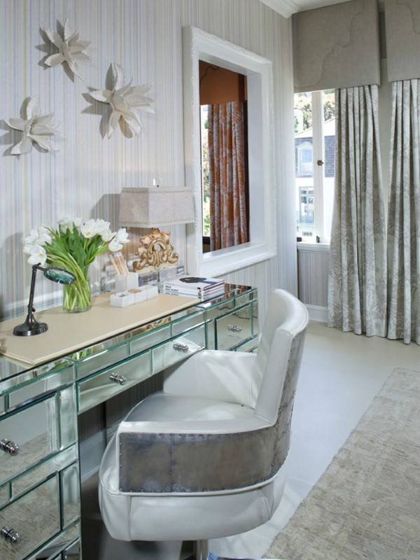 Зеркальный письменный стол