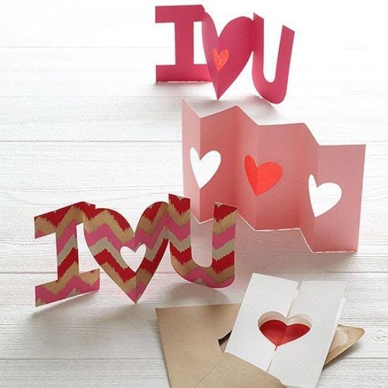 Поделки из картона ко Дню святого Валентина