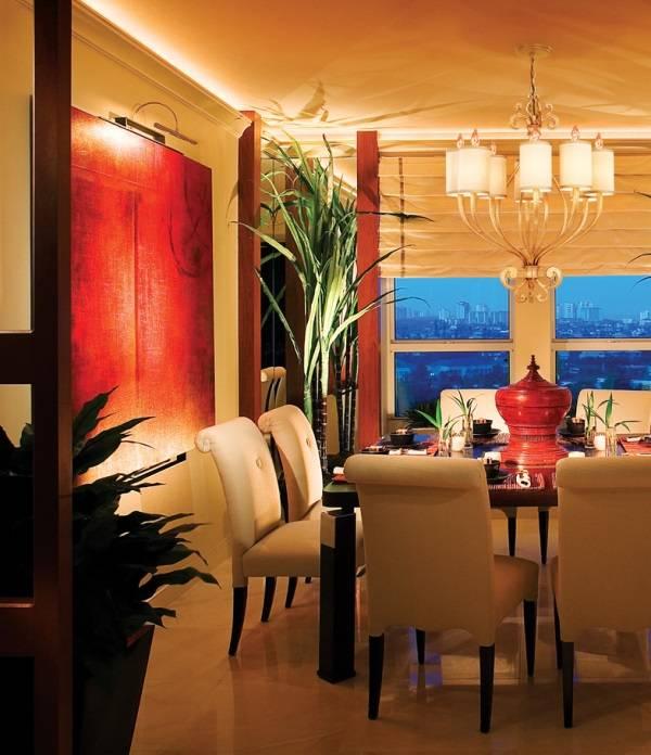Подсветка потолка в гостиной