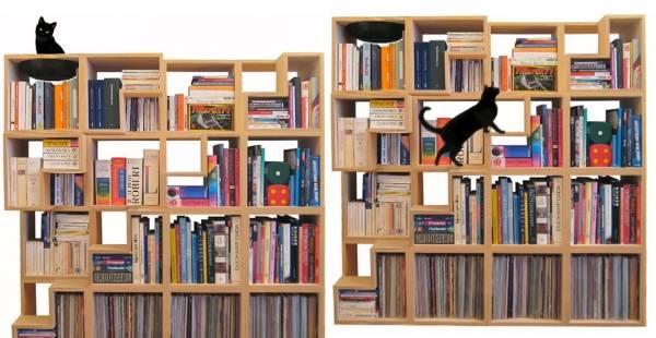 Книжная полка, которую полюбит ваш кот