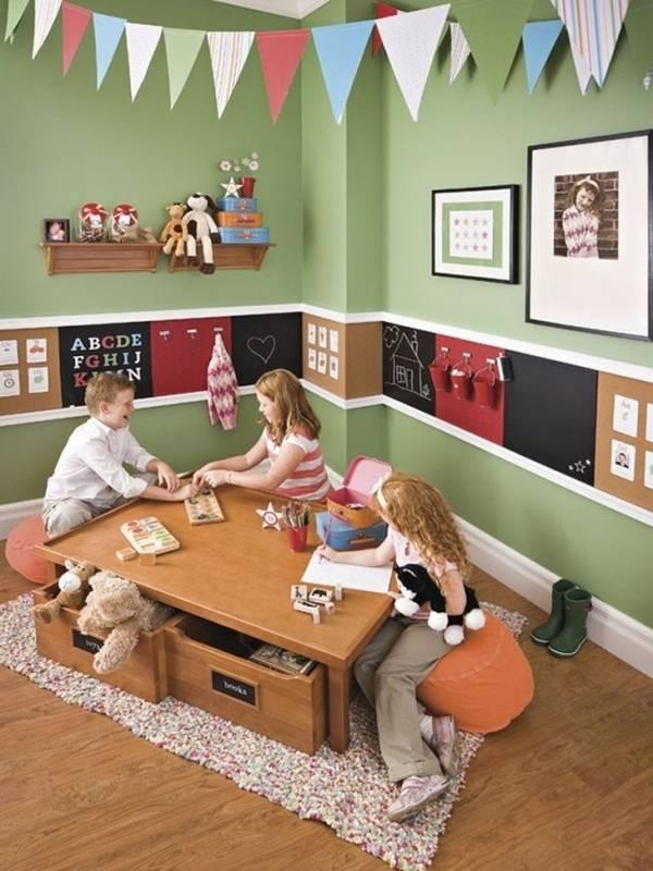 Практичное решение для стен в детской