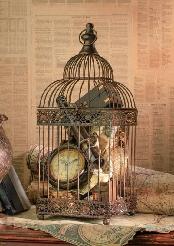 Птичья клетка как декор для дома