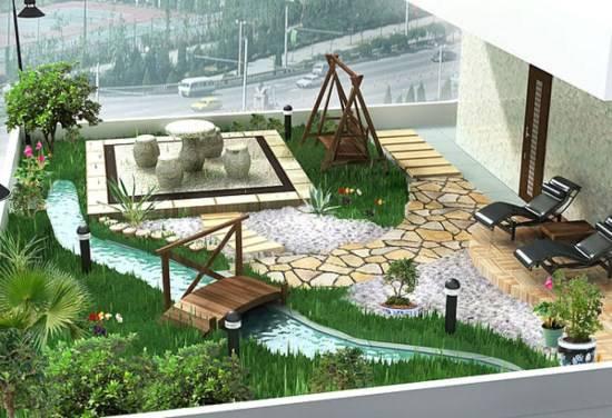 Терраса с шикарным садом